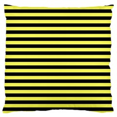 Wasp Stripes Pattern, Yellow And Black Lines, Bug Themed Large Flano Cushion Case (two Sides) by Casemiro