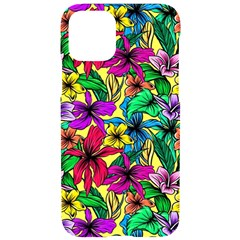 Hibiscus Flowers Pattern, Floral Theme, Rainbow Colors, Colorful Palette Iphone 11 Pro Black Uv Print Case