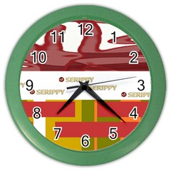 Serippy Color Wall Clock by SERIPPY