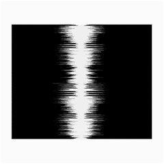 Black And White Noise, Sound Equalizer Pattern Small Glasses Cloth by Casemiro