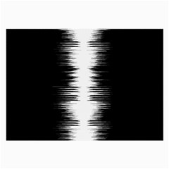 Black And White Noise, Sound Equalizer Pattern Large Glasses Cloth by Casemiro