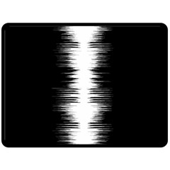 Black And White Noise, Sound Equalizer Pattern Fleece Blanket (large)  by Casemiro