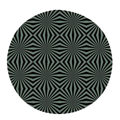 Geometric Pattern, Army Green And Black Lines, Regular Theme Pop Socket (white)