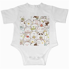 Cute-baby-animals-seamless-pattern Infant Creepers by Sobalvarro