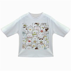 Cute-baby-animals-seamless-pattern Infant/toddler T-shirts by Sobalvarro
