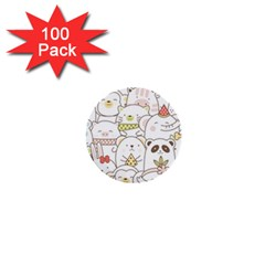 Cute-baby-animals-seamless-pattern 1  Mini Buttons (100 Pack)  by Sobalvarro