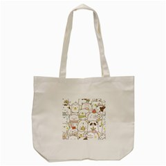 Cute-baby-animals-seamless-pattern Tote Bag (cream) by Sobalvarro
