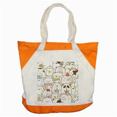 Cute-baby-animals-seamless-pattern Accent Tote Bag by Sobalvarro