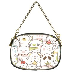 Cute-baby-animals-seamless-pattern Chain Purse (one Side) by Sobalvarro