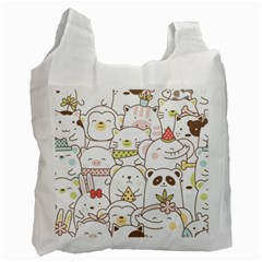 Cute-baby-animals-seamless-pattern Recycle Bag (one Side) by Sobalvarro