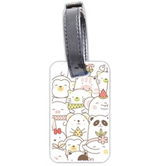 Cute-baby-animals-seamless-pattern Luggage Tag (two Sides) by Sobalvarro