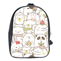 Cute-baby-animals-seamless-pattern School Bag (xl) by Sobalvarro