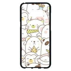 Cute-baby-animals-seamless-pattern Samsung Galaxy S8 Plus Black Seamless Case by Sobalvarro