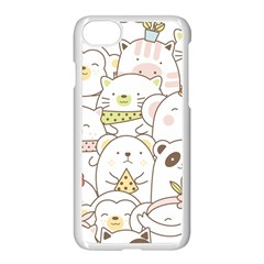 Cute-baby-animals-seamless-pattern Iphone 8 Seamless Case (white) by Sobalvarro