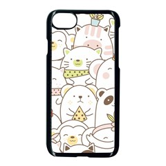Cute-baby-animals-seamless-pattern Iphone 8 Seamless Case (black)
