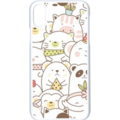 Cute-baby-animals-seamless-pattern Iphone X Seamless Case (white) by Sobalvarro