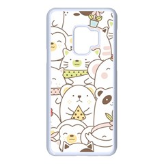 Cute-baby-animals-seamless-pattern Samsung Galaxy S9 Seamless Case(white) by Sobalvarro
