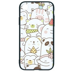 Cute-baby-animals-seamless-pattern Iphone Xr Soft Bumper Uv Case by Sobalvarro