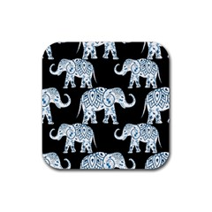 Elephant-pattern-background Rubber Coaster (square)  by Sobalvarro