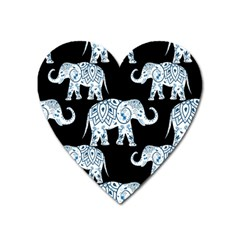 Elephant-pattern-background Heart Magnet by Sobalvarro