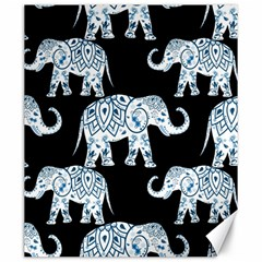 Elephant-pattern-background Canvas 20  X 24  by Sobalvarro