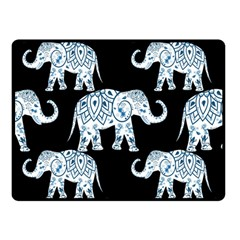 Elephant-pattern-background Double Sided Fleece Blanket (small)  by Sobalvarro