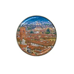 Lucca Historic Center Aerial View Hat Clip Ball Marker (4 Pack) by dflcprintsclothing