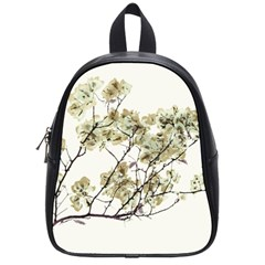 Photo Illustration Flower Over White Background School Bag (small) by dflcprintsclothing