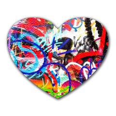 Crazy Grafitti Heart Mousepads by essentialimage