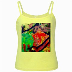 Crazy Graffiti Yellow Spaghetti Tank by essentialimage