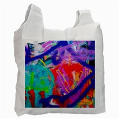 Crazy Graffiti Recycle Bag (two Side) by essentialimage