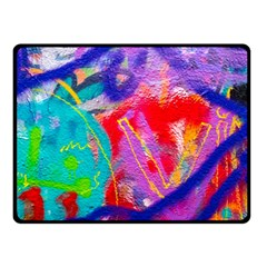 Crazy Graffiti Double Sided Fleece Blanket (small)  by essentialimage