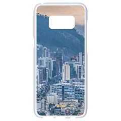 Aerial Cityscape Quito Ecuador Samsung Galaxy S8 White Seamless Case by dflcprintsclothing