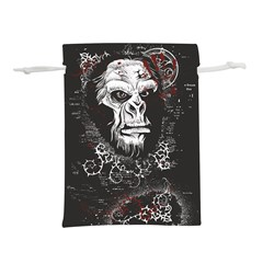Monster Monkey From The Woods Lightweight Drawstring Pouch (l) by DinzDas