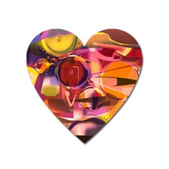 Fractured Colours Heart Magnet by helendesigns