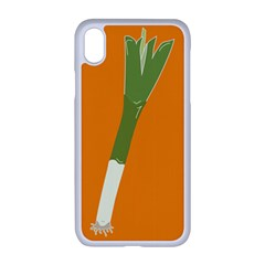 Leek Green Onion Iphone Xr Seamless Case (white)