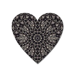Modern Baroque Print Heart Magnet by dflcprintsclothing