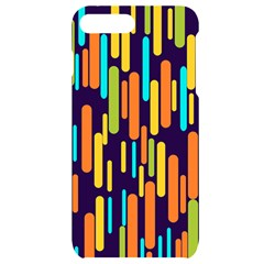Illustration Abstract Line Iphone 7/8 Plus Black Uv Print Case