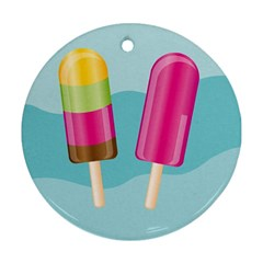 Ice Cream Parlour Round Ornament (two Sides)