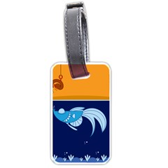 Fish Water Fisherman Luggage Tag (two Sides)