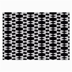 Black And White Triangles Large Glasses Cloth (2 Sides) by Sparkle