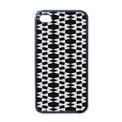 Black And White Triangles Iphone 4 Case (black)