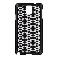 Black And White Triangles Samsung Galaxy Note 3 N9005 Case (black)