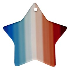 Blue,white Red Ornament (star)