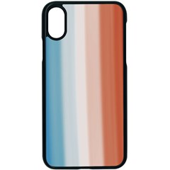 Blue,white Red Iphone Xs Seamless Case (black)