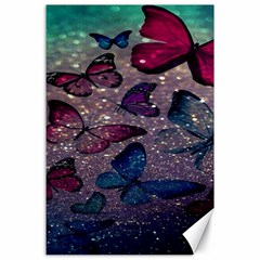 Glitter Butterfly Canvas 24  X 36  by Sparkle