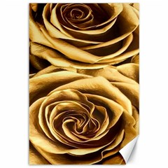 Gold Roses Canvas 12  X 18