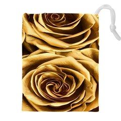 Gold Roses Drawstring Pouch (5xl)
