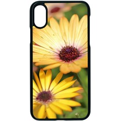 Yellow Flowers Iphone Xs Seamless Case (black)