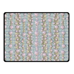 Summer Florals In The Sea Pond Decorative Fleece Blanket (small)